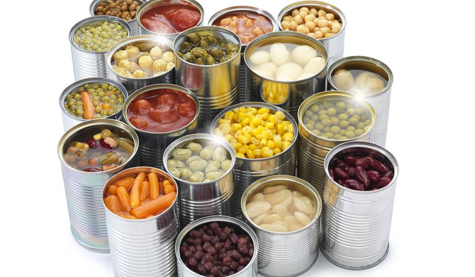Canned Meat, Fruits and Vegetables